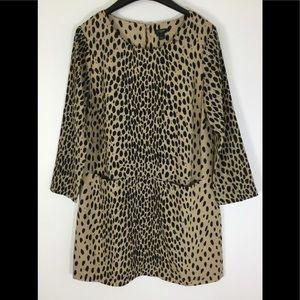 J Crew Factory Womens Leopard Tunic Dress size 8